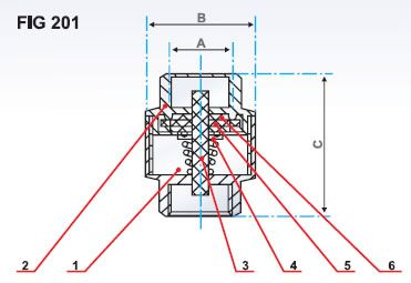 Brass Spring Check Valve Diagram