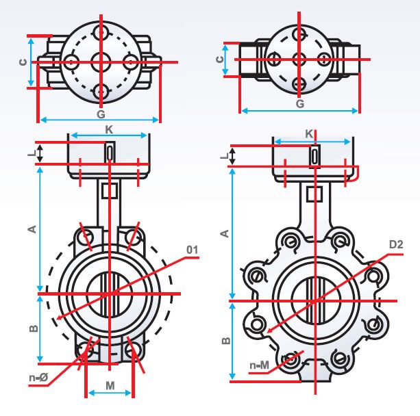 Butterfly Valves Diagram / Figure